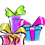 image showing 3 wrapped gifts