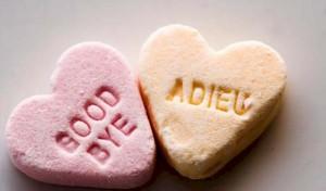 "conversation hearts: ""goodbye"" & ""Adieu"""