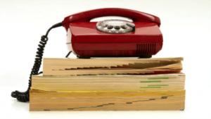 paper phonebook