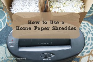 How to Use a Home Paper Shredder-2