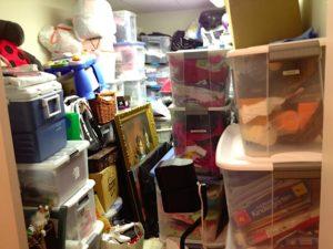 disorganized storage room