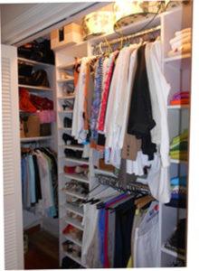 Beautifully well lit summer closet.