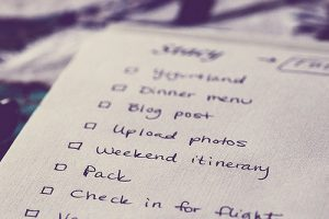 To Do lists and what to do with them.